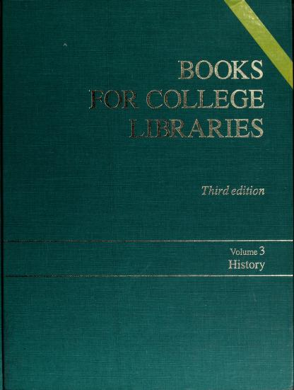 Books for college libraries by