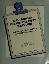 Cover of: A guidebook for cooperative learning   Dee Dishon