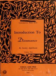 Cover of: Introduction to dissonance | Stan Applebaum