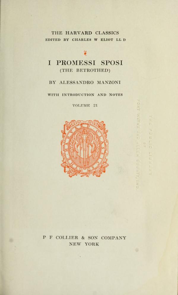 I promessi sposi by Alessandro Manzoni
