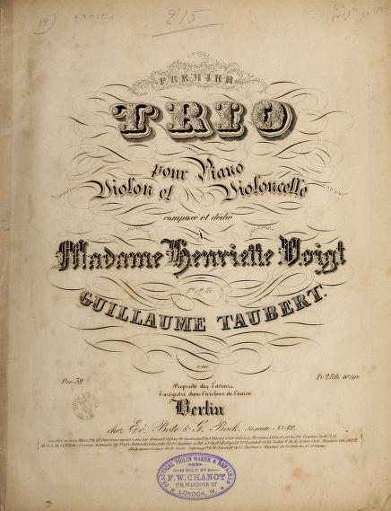 Premier trio pour piano, violon et violoncelle, oev. 32 by Wilhelm Taubert